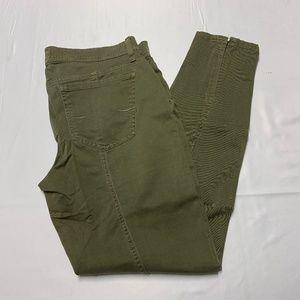 Lucky Brand Size 10 Dark Green Skinny Jeans